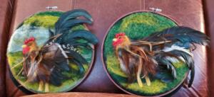 Painting with Wool Roosters