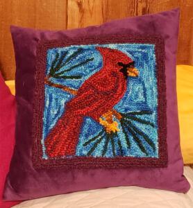 Punch Needle Cardinal