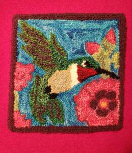 Punch Needle Hummingbird
