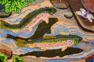 detail trout and swallows