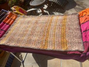 Felted crochet rug
