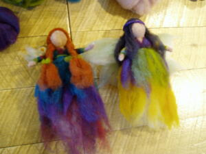 Needle felted fairies