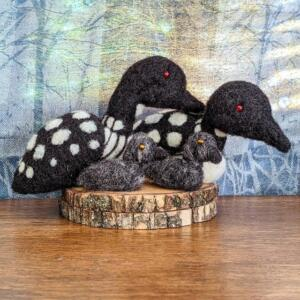 Needle Felted Loons
